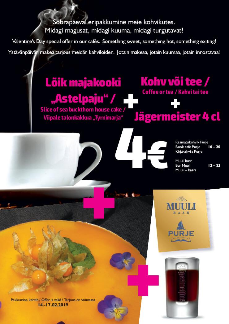 9e2643db0c6 Sõbrapäeva eripakkumine meie kohvikutes