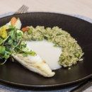 Pärnu Bay caught zander fillet, pesto risotto, vegetable bouquet, wine sauce
